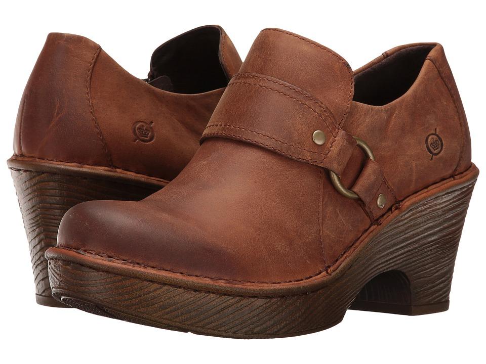 Born - Ravenna (Russet Full Grain Leather) Women's Clog Shoes