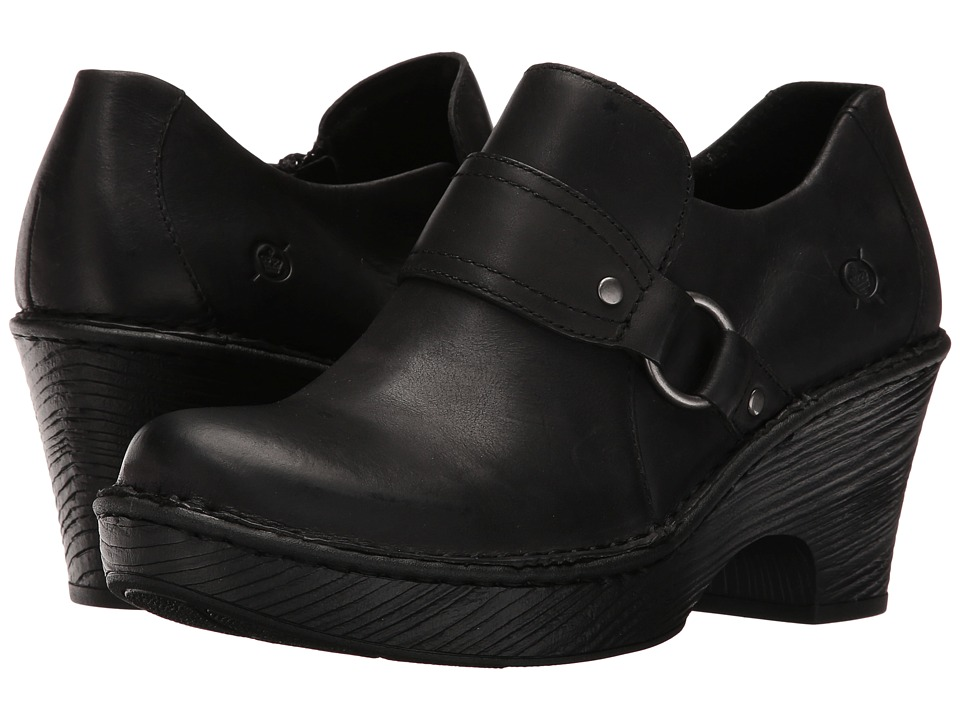 Born - Ravenna (Black Full Grain Leather) Women's Clog Shoes