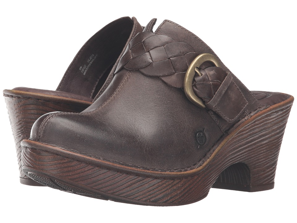 Born - Mahal (Cloudy Full Grain Leather) Women's Clog Shoes