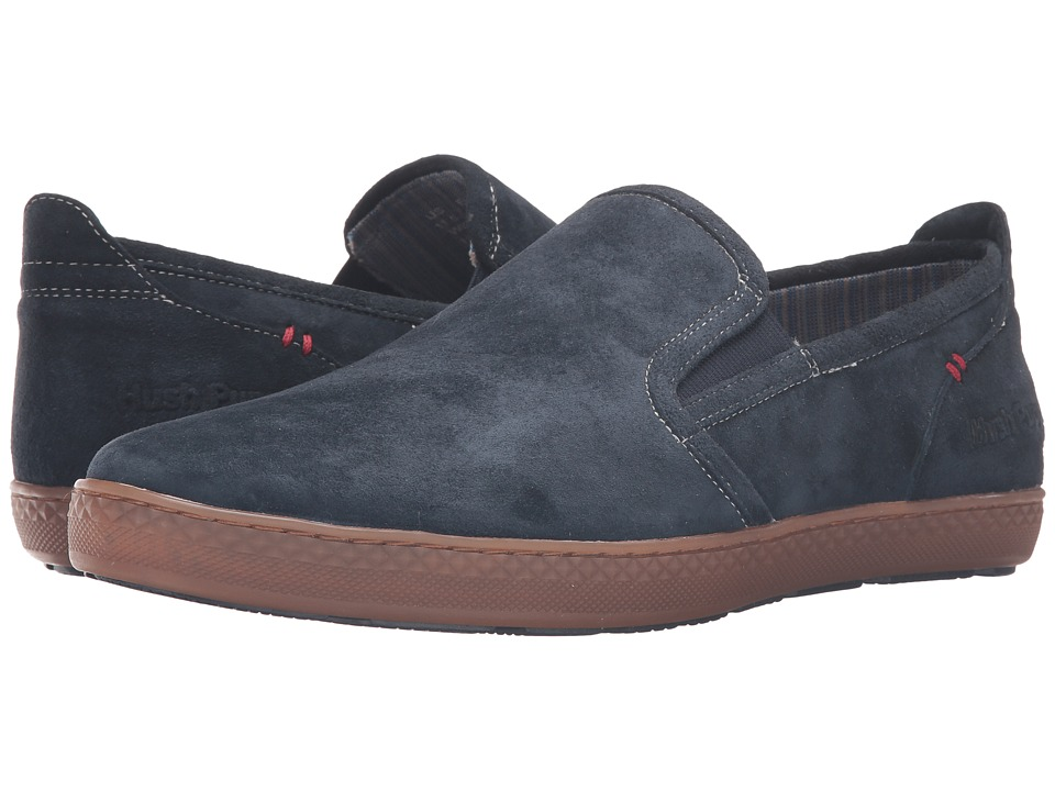 Hush Puppies - Goal Roadcrew (Navy Suede/Gum) Men's Slip on Shoes