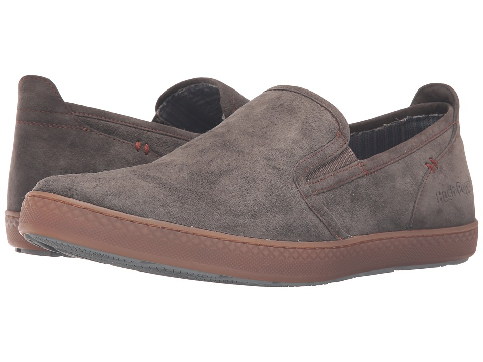 Hush Puppies - Goal Roadcrew (Grey Suede/Gum) Men's Slip on Shoes