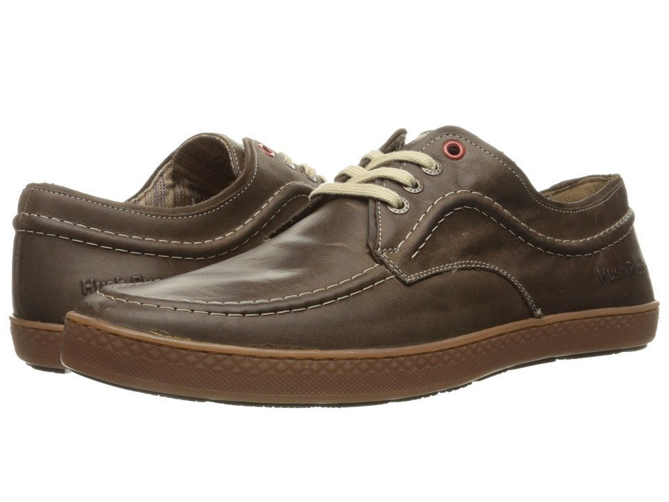 Hush Puppies Teague Roadcrew (Dark Brown Leather/Gum) Men