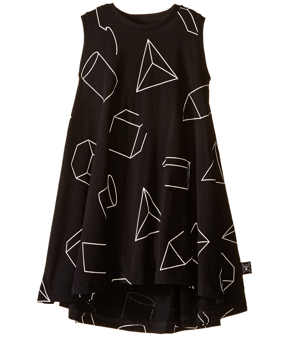 Nununu - Geometric 360 Tank Dress (Infant/Toddler/Little Kids) (Black) Girl's Dress