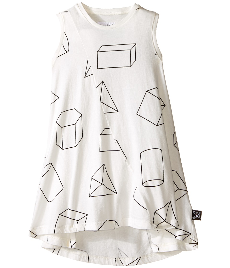 Nununu - Geometric 360 Tank Dress (Infant/Toddler/Little Kids) (White) Girl's Dress