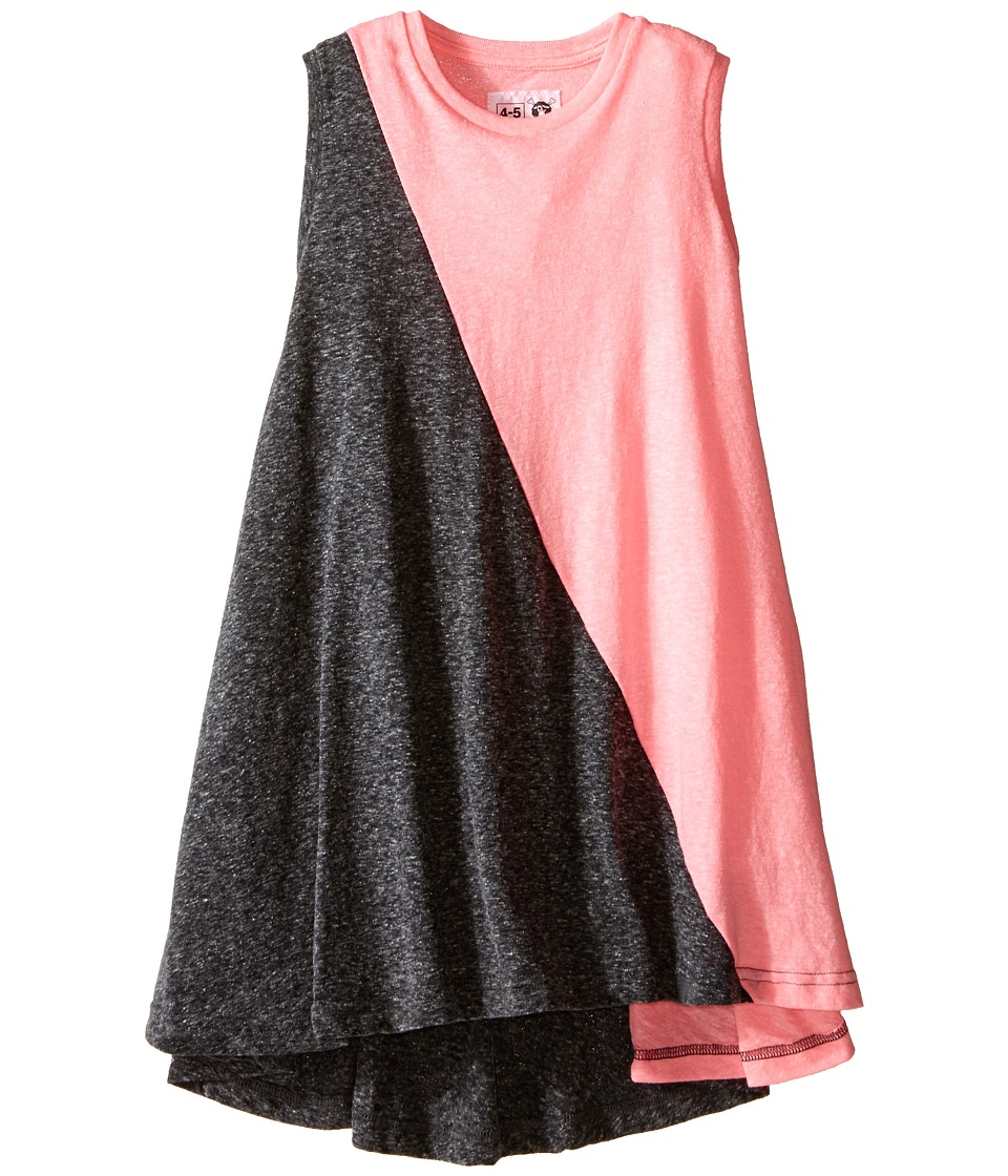 Nununu - 1/2 1/2 360 Tank Dress (Infant/Toddler/Little Kids) (Charcoal/Pink) Girl's Dress