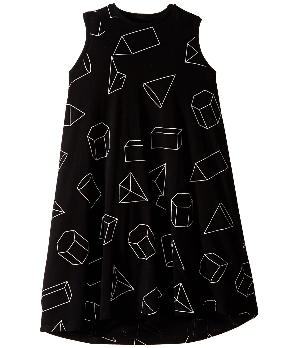 Nununu - Geometric 360 Tank Dress (Little Kids/Big Kids) (Black) Girl's Dress