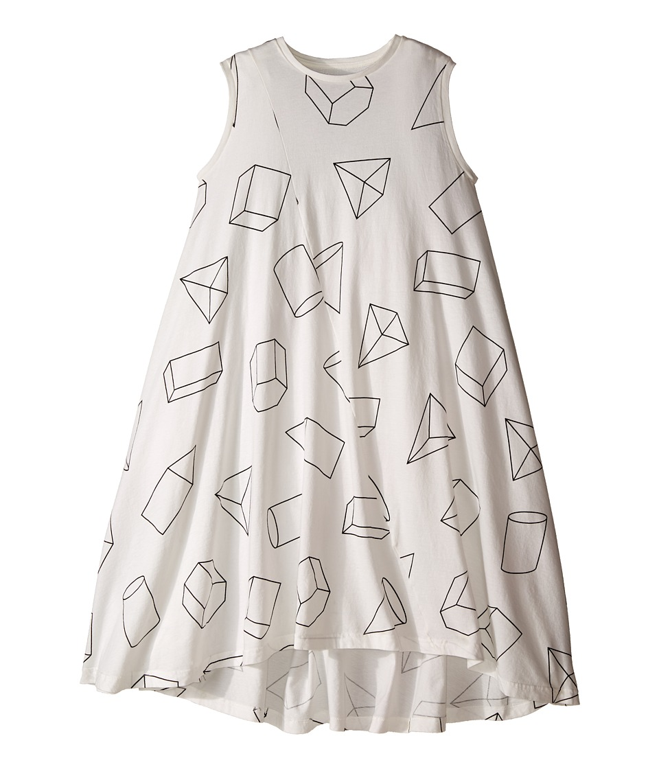 Nununu - Geometric 360 Tank Dress (Little Kids/Big Kids) (White) Girl's Dress