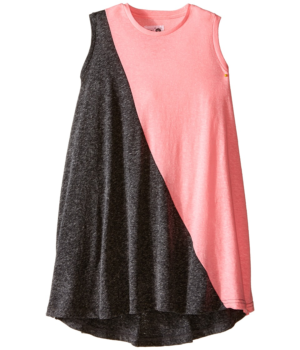 Nununu - 1/2 1/2 360 Tank Dress (Little Kids/Big Kids) (Charcoal/Pink) Girl