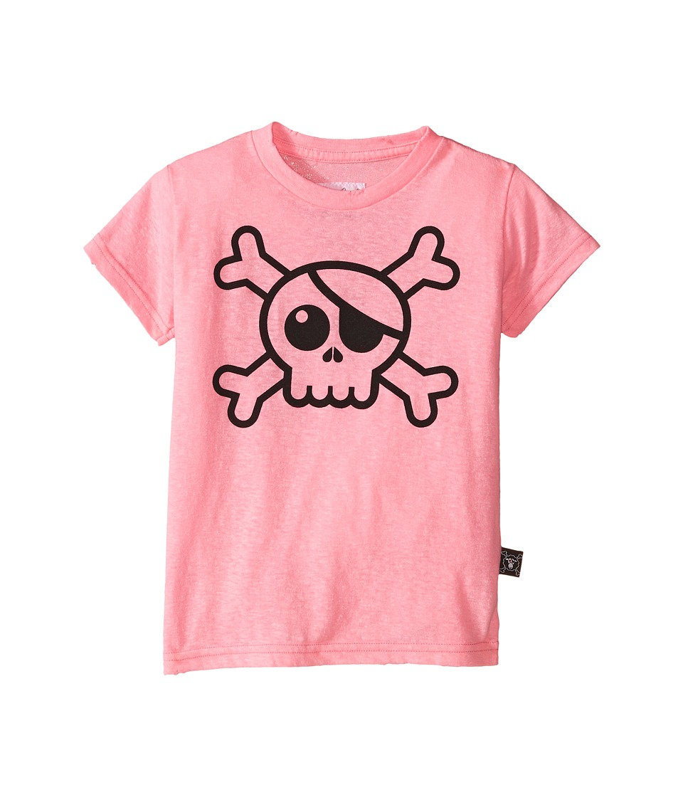 Nununu - Big Skull T-Shirt (Infant/Toddler/Little Kids) (Pink) Girl