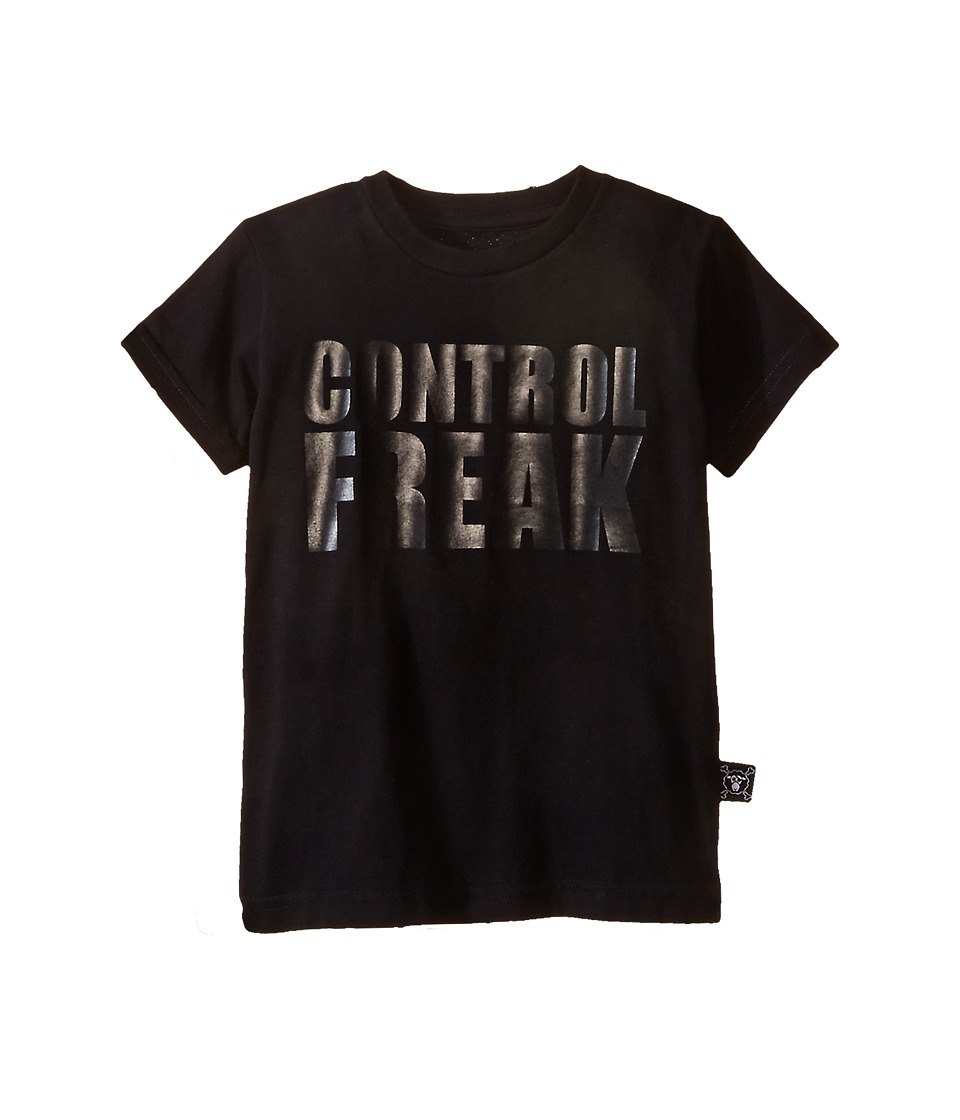 Nununu - Control Freak T-Shirt (Infant/Toddler/Little Kids) (Black) Kid's Short Sleeve Pullover