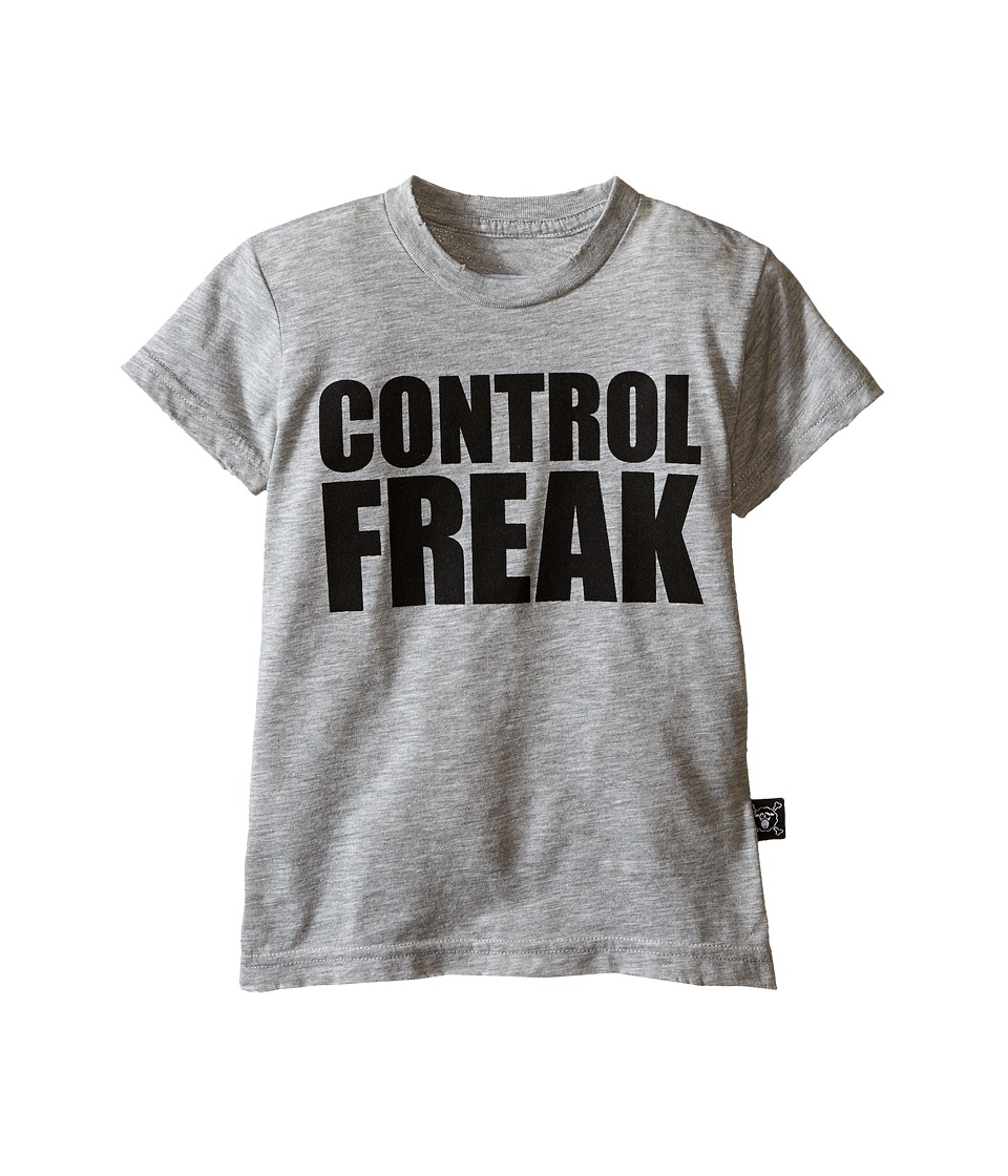 Nununu - Control Freak T-Shirt (Infant/Toddler/Little Kids) (Heather Grey) Kid's Short Sleeve Pullover