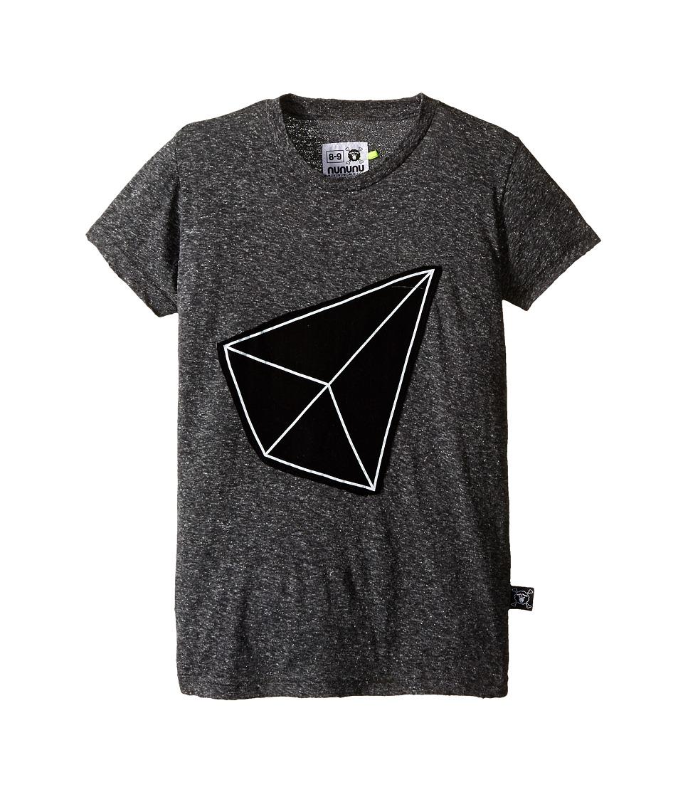 Nununu - Geometric Patch T-Shirt (Little Kids/Big Kids) (Charcoal) Kid's Short Sleeve Pullover