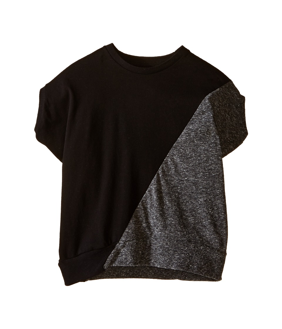 Nununu - 1/2 1/2 Round Shirt (Toddler/Little Kids) (Black/Charcoal) Kid's Clothing