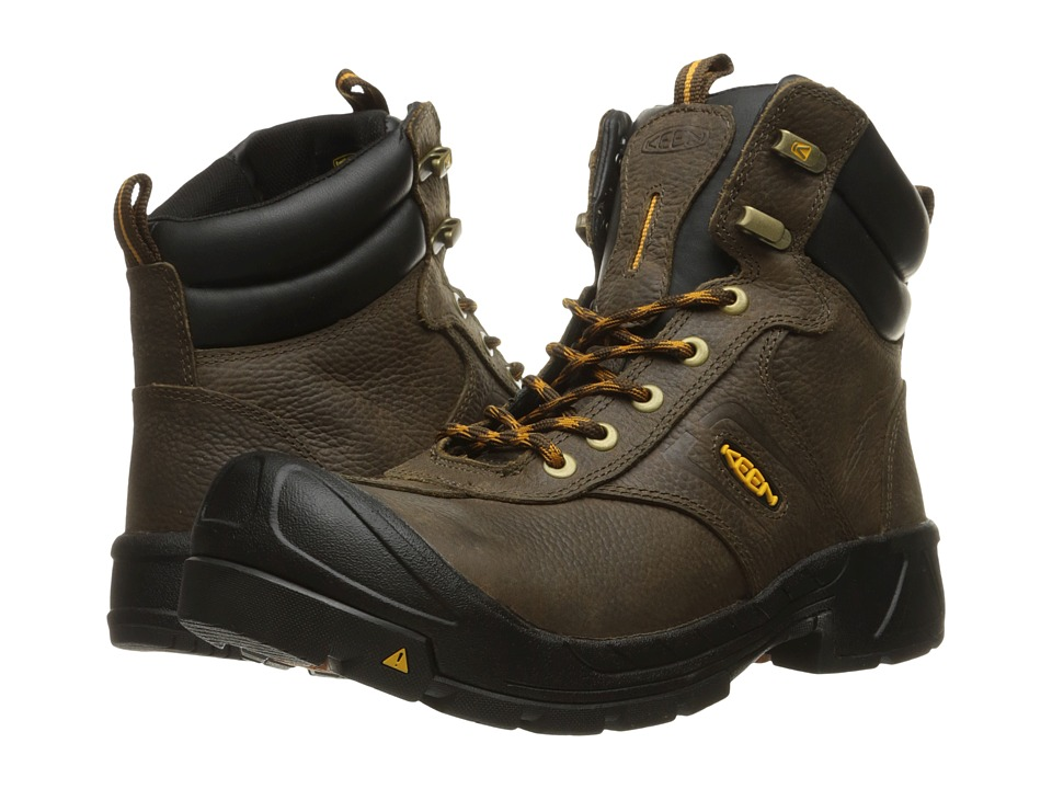 Keen Utility - Warren Soft Toe (Cascade Brown) Men's Work Boots