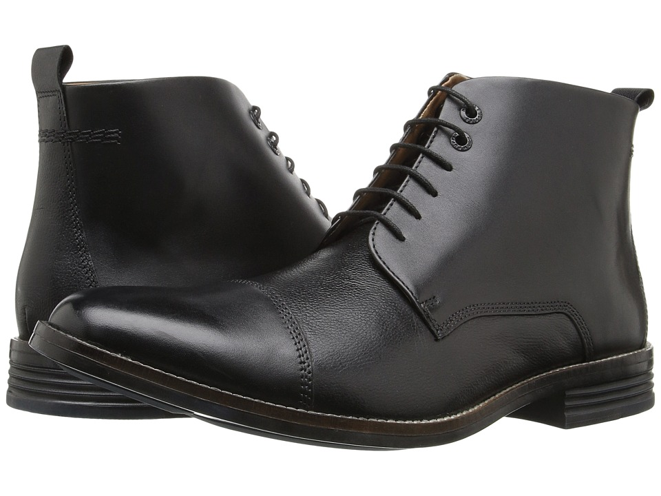 Hush Puppies Gage Parkview (Black Leather) Men