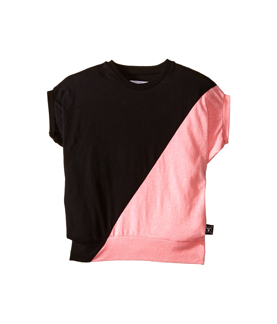 Nununu - 1/2 1/2 Round Shirt (Little Kids/Big Kids) (Black/Pink) Girl's Clothing