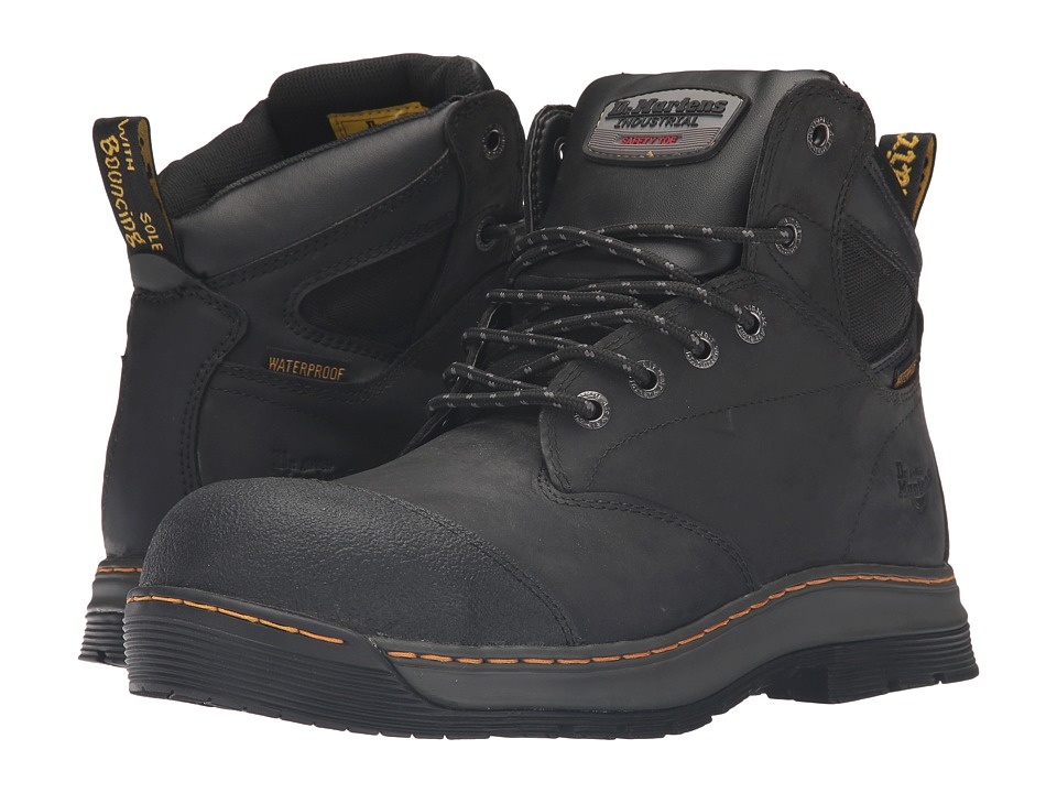 Dr. Martens Work Deluge Electrical Hazard Waterproof Steel Toe 6-Eye Boot (Black Connection Waterproof) Men