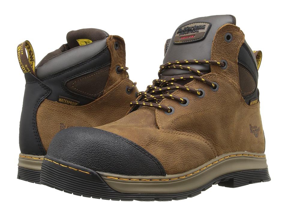 Dr. Martens - Deluge Electrical Hazard Waterproof Steel Toe 6-Eye Boot (Brown Overlord Waterproof) Men's Work Lace-up Boots
