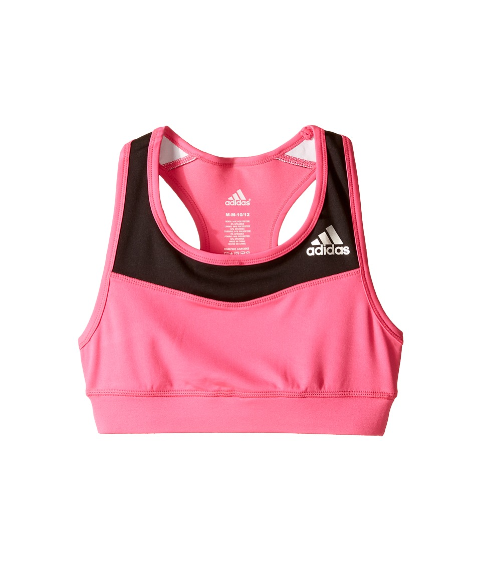 adidas Kids - Gym Bra (Big Kids) (Shock Pink/Black) Girl's Bra