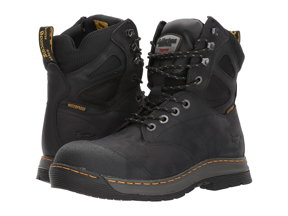 Dr. Martens - Spate Electrical Hazard Waterproof Steel Toe 8-Eye Boot (Black Connection Waterproof) Men's Work Lace-up Boots