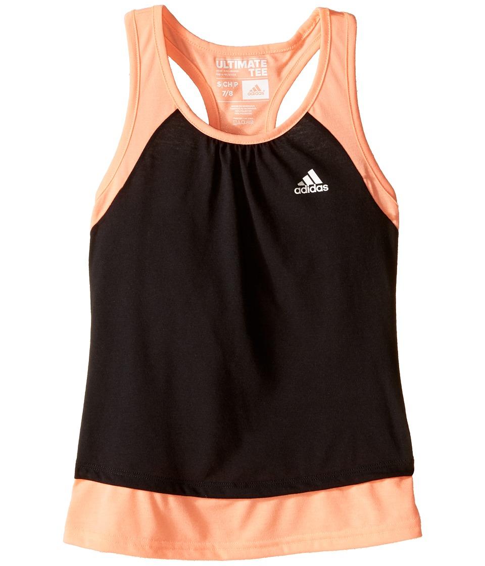 adidas Kids - Ultimate Tank Top (Big Kids) (Black/Sun Glow) Girl's Sleeveless