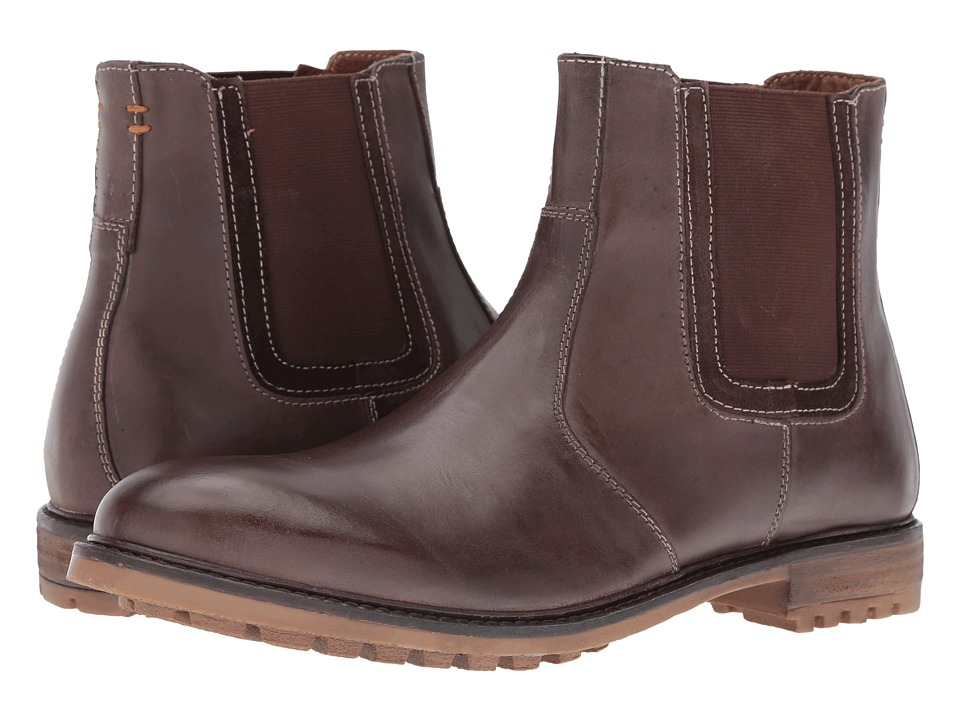 Hush Puppies Beck Rigby (Dark Brown Leather) Men