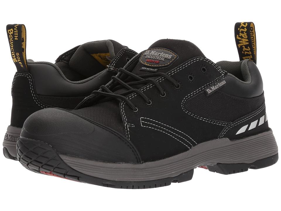 Dr. Martens - Vane Non-Metallic Electrical Hazard Steel Toe 6-Eye Shoe (Black Extra Tough Nylon) Men's Lace up casual Shoes