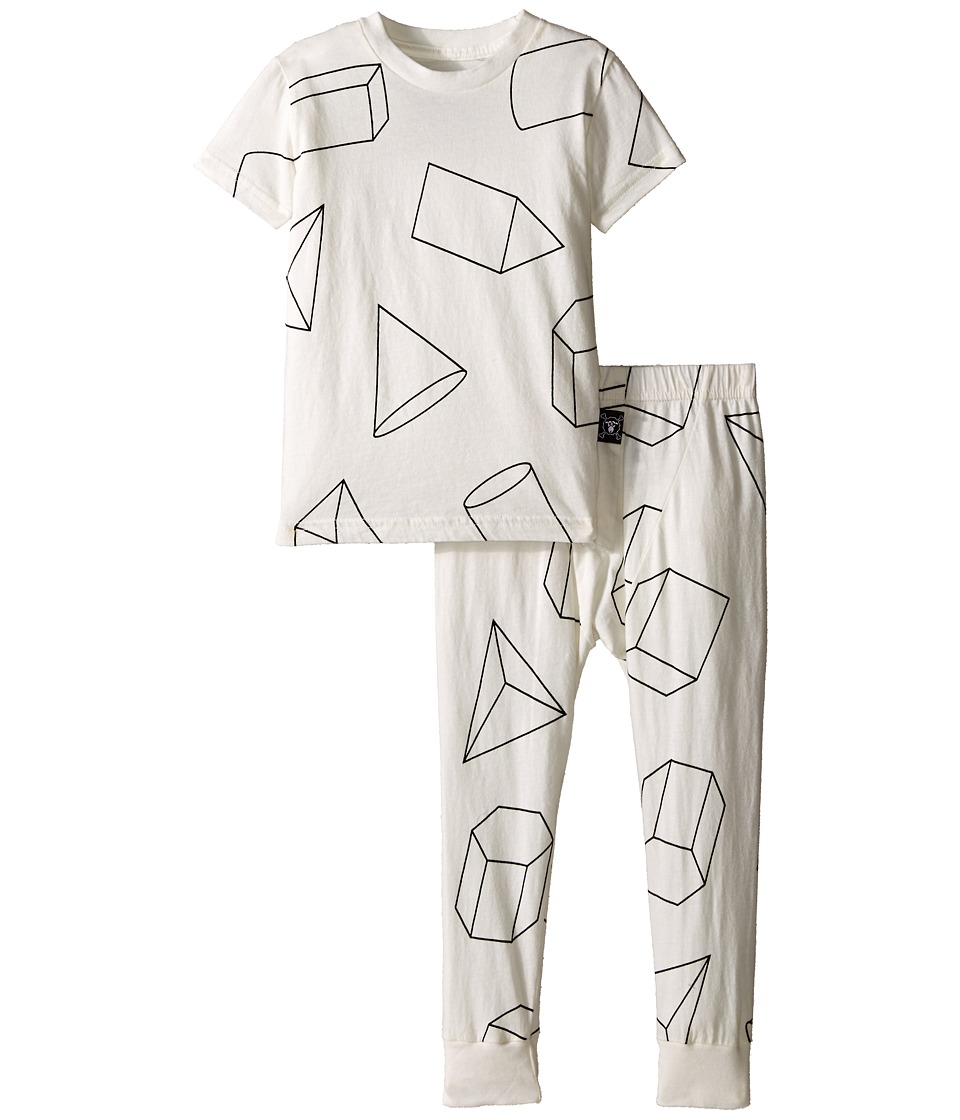 Nununu - Geometric Lounge Wear (Infant/Toddler/Little Kids) (White) Kid's Active Sets