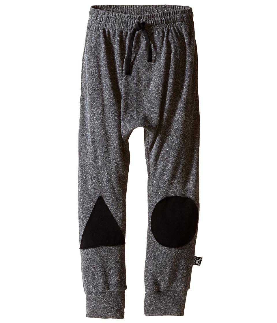 Nununu - Patch Baggy Pants (Little Kids/Big Kids) (Charcoal) Kid's Casual Pants