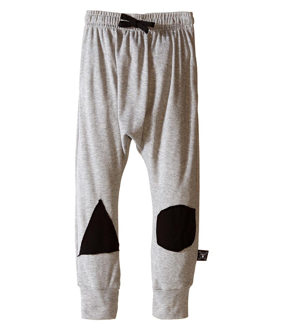 Nununu - Patch Baggy Pants (Infant/Toddler/Little Kids) (Heather Grey) Kid's Casual Pants