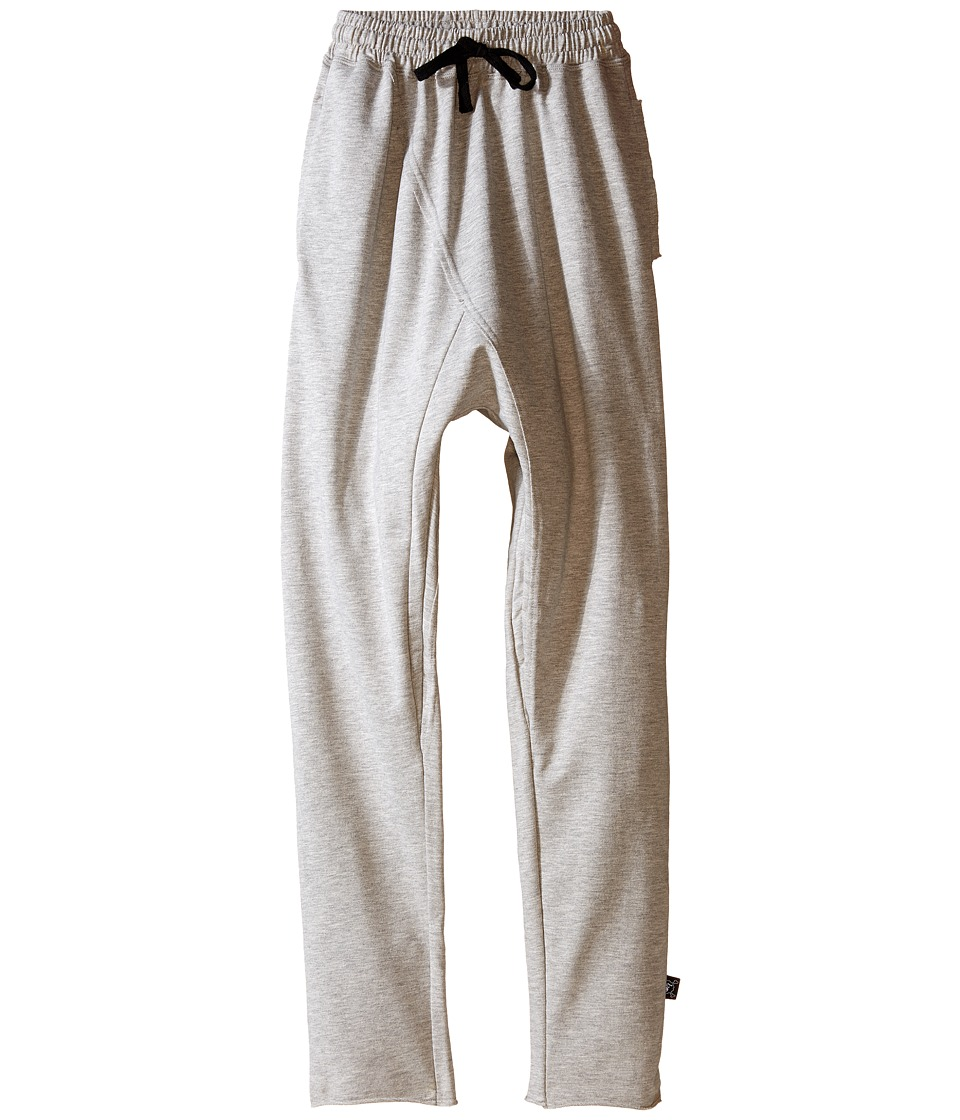 Nununu - Raw Pants (Little Kids/Big Kids) (Heather Grey) Kid's Casual Pants