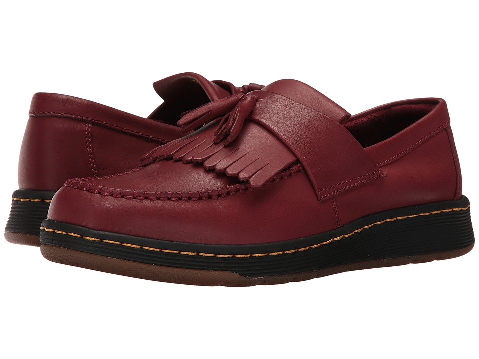 Dr. Martens - Edison Kiltie Tassel Loafer (Cherry Red Temperley) Slip on Shoes
