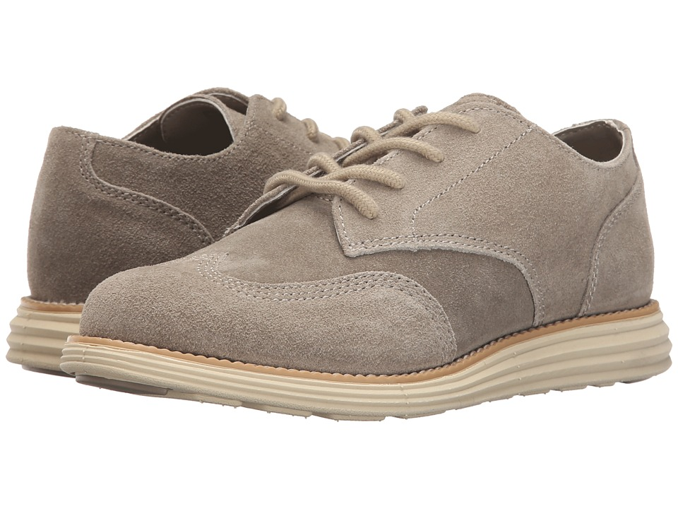 Cole Haan Kids - Grand Oxford (Little Kid/Big Kid) (Khaki Suede/White) Boy's Shoes