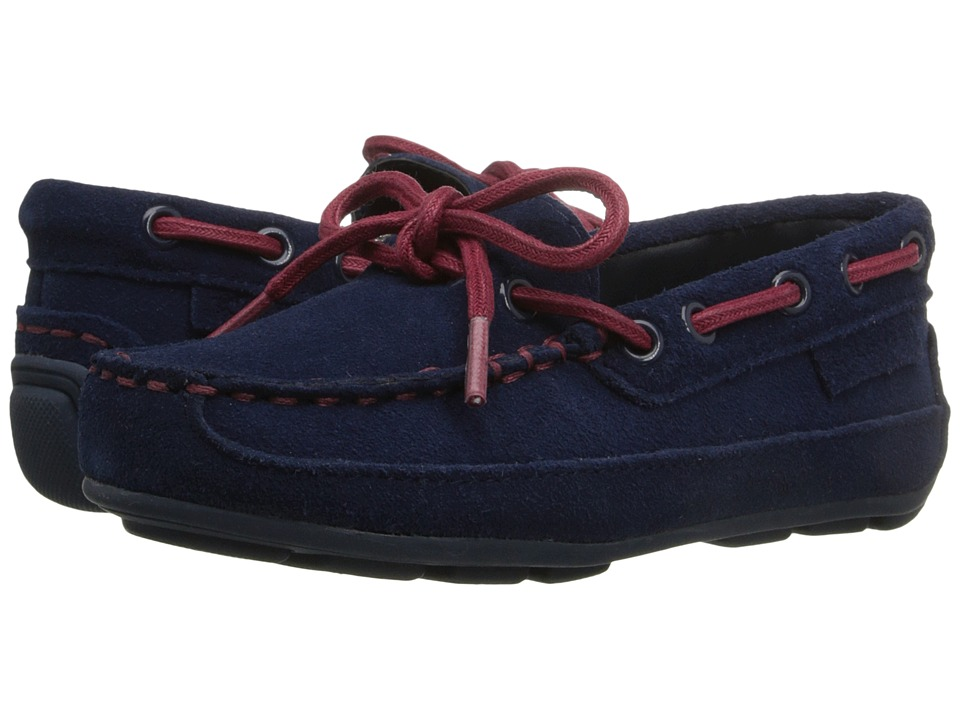 Cole Haan Kids - Grant Driver (Toddler/Little Kid) (Navy Suede/Red) Boy's Shoes