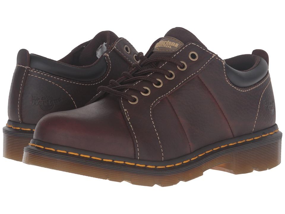 Dr. Martens - Mila Service NS 6-Eye Shoe (Teak Crazyhorse) Women's Lace up casual Shoes