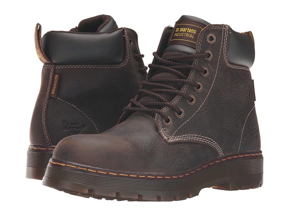 Dr. Martens - Winch Service Waterproof 7-Eye Boot (Brown Crisscross Waterproof) Men's Work Lace-up Boots