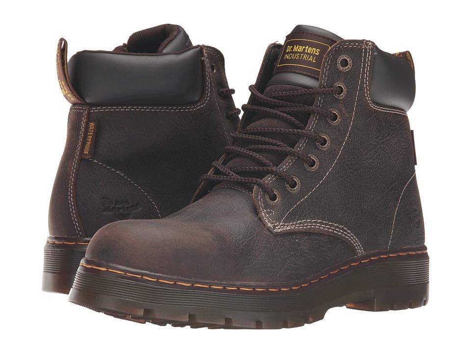 Dr. Martens - Winch Service Waterproof 7-Eye Boot (Brown Crisscross Waterproof) Men's Work Lace-up Boots