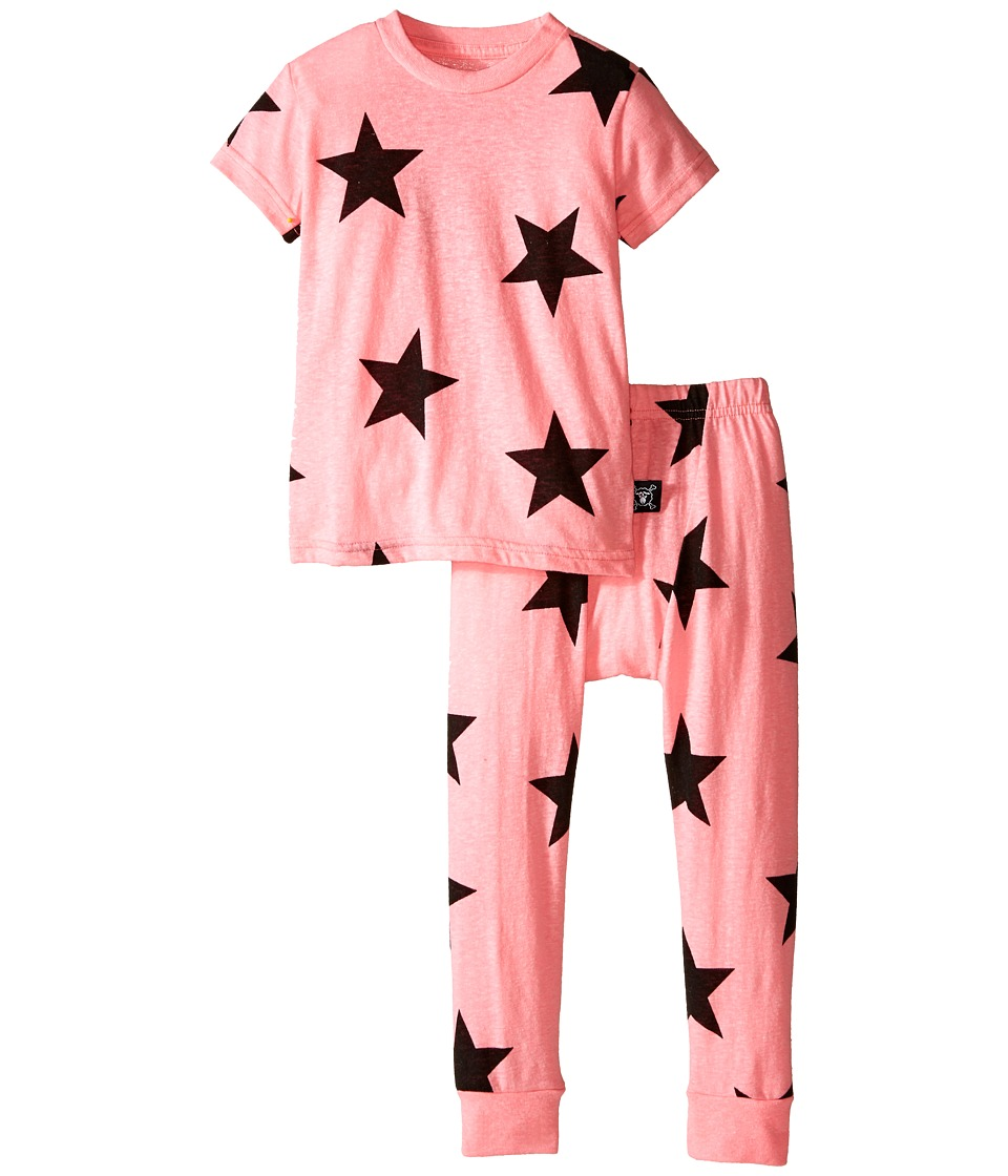 Nununu - Star Lounge Wear (Infant/Toddler/Little Kids) (Pink) Girl's Active Sets