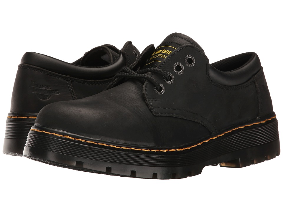 Dr. Martens - Bolt Service 4-Eye Shoe (Black Wyoming) Men's Lace up casual Shoes