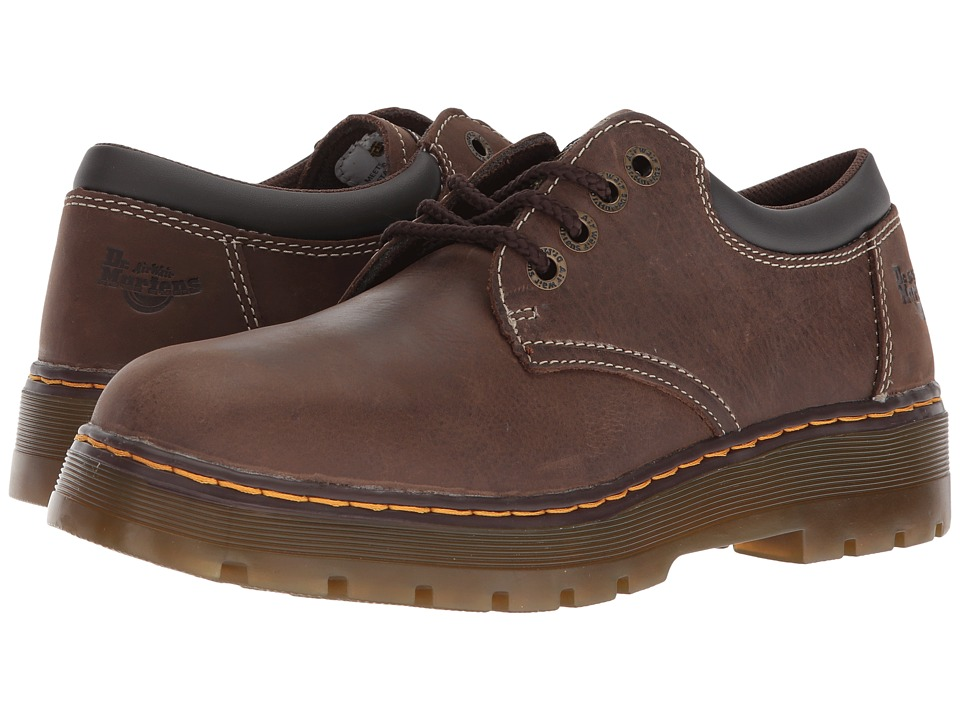 Dr. Martens Bolt Service 4-Eye Shoe (Dark Brown Wyoming) Men