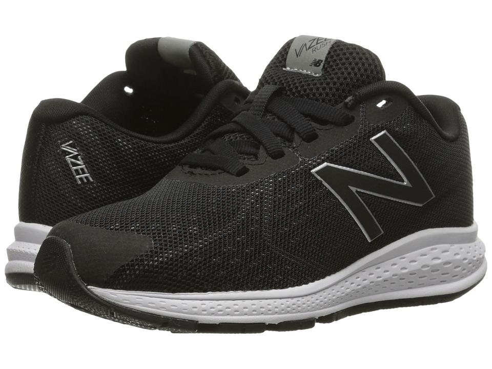 New Balance Kids Vazee Rush v2 (Little Kid) (Black/Silver) Boys Shoes