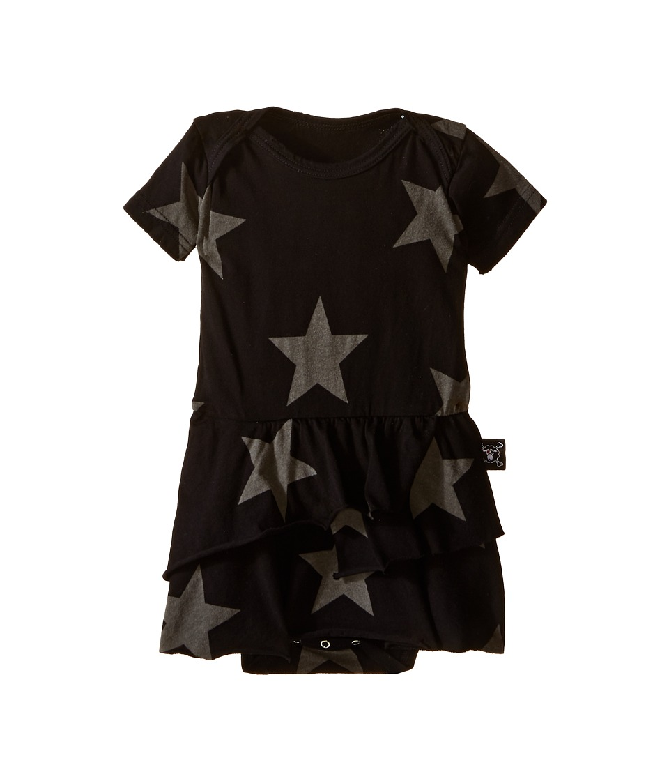 Nununu - Star One-Piece Skirt (Infant) (Black) Girl's Jumpsuit & Rompers One Piece