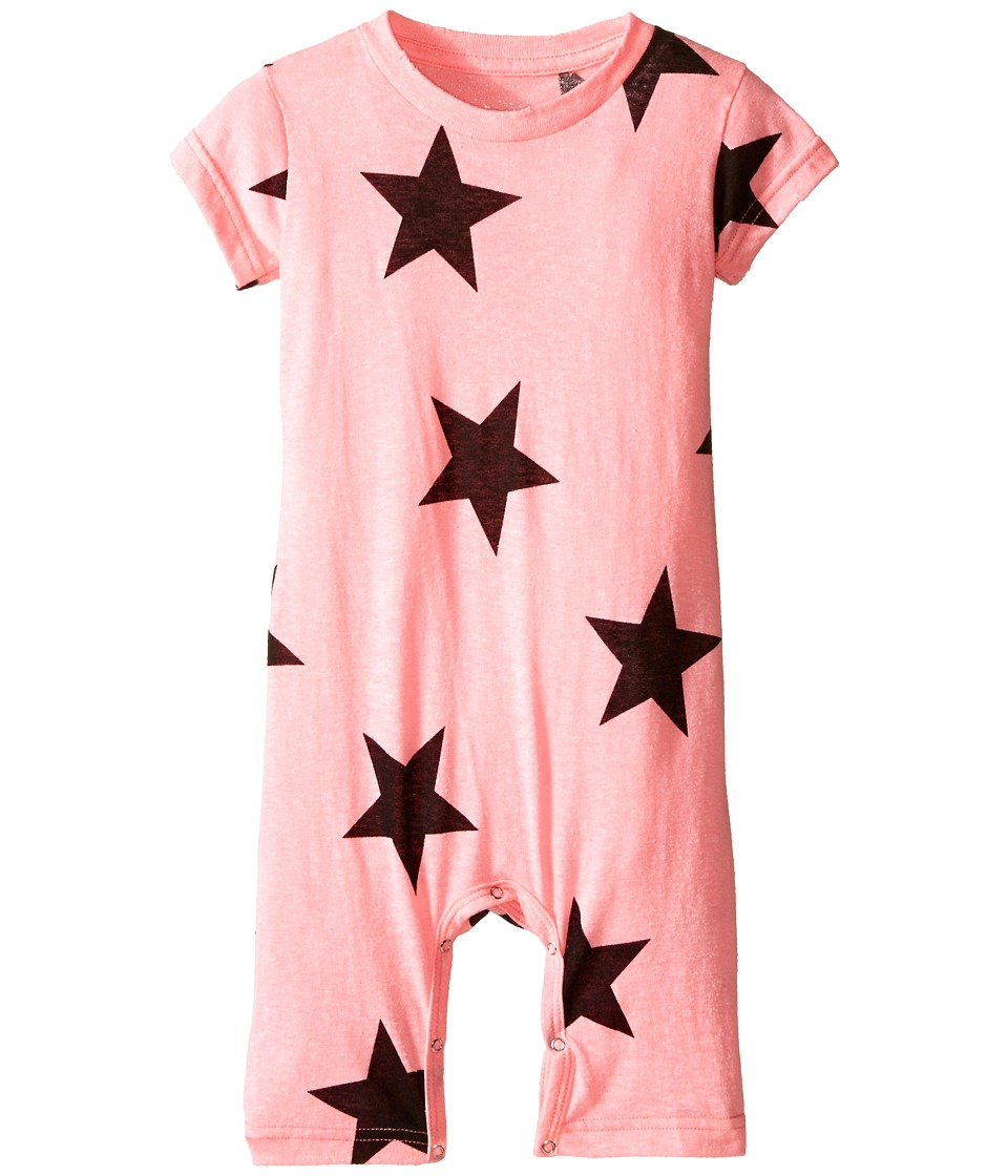 Nununu - Star Playsuit (Infant) (Pink) Girl's Jumpsuit & Rompers One Piece