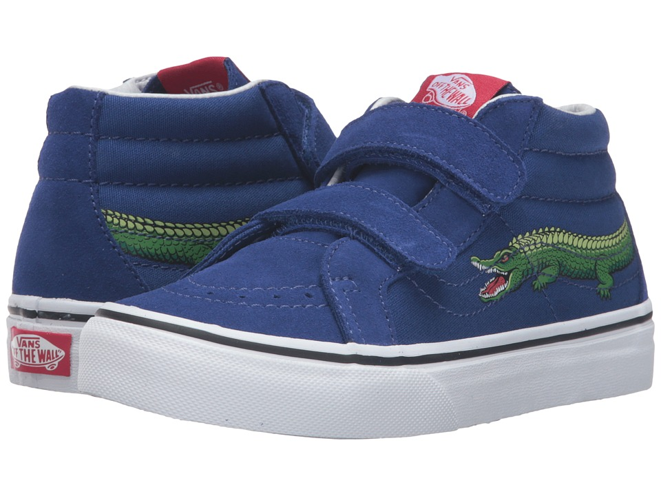 Vans Kids - SK8-Mid Reissue V (Little Kid/Big Kid) ((Reptile Sidestripe) Crocodile/Sodalite Blue) Boys Shoes