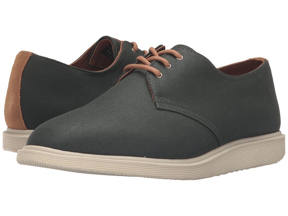 Dr. Martens - Torriano 3-Eye Shoe (Army Green Waxy Canvas/Biscuit Hi Suede) Lace up casual Shoes