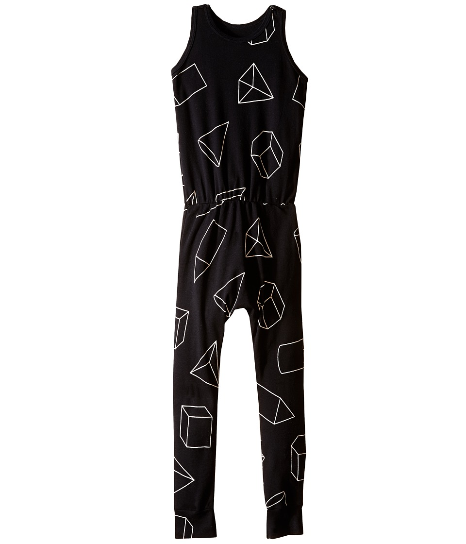 Nununu - Geometric Romper (Little Kids/Big Kids) (Black) Kid's Jumpsuit & Rompers One Piece