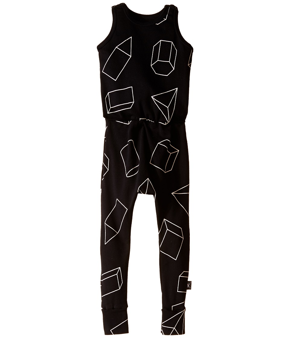 Nununu - Geometric Romper (Infant/Toddler/Little Kids) (Black) Kid's Jumpsuit & Rompers One Piece
