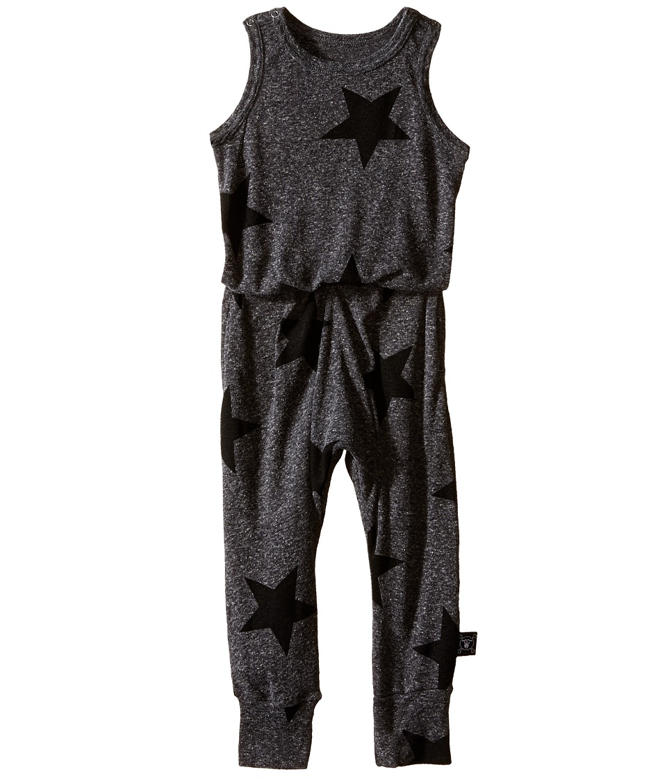 Nununu - Star Romper (Infant/Toddler/Little Kids) (Charcoal) Kid's Jumpsuit & Rompers One Piece