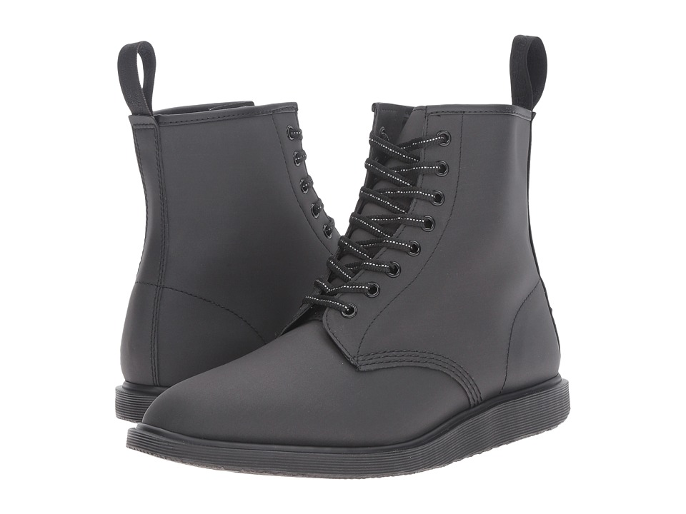 Dr. Martens Whiton 8-Eye Boot (Black Reflective Glassine) Lace-up Boots