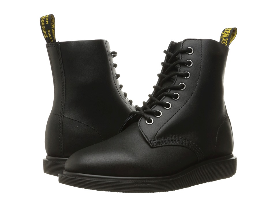 Dr. Martens Whiton 8-Eye Boot (Black Softy T) Lace-up Boots